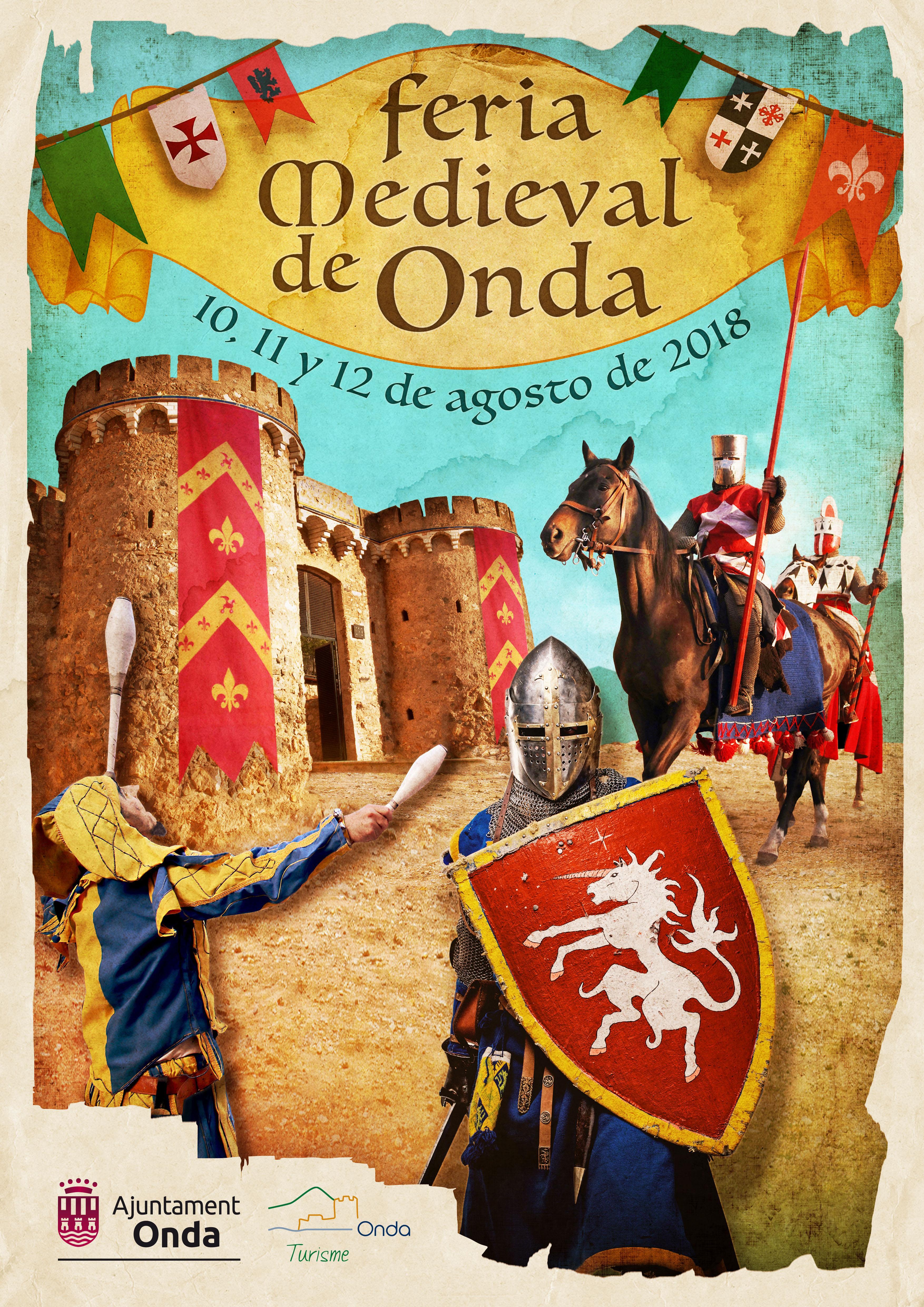 Feria Medieval de Onda, 10 a 12 agosto 2018