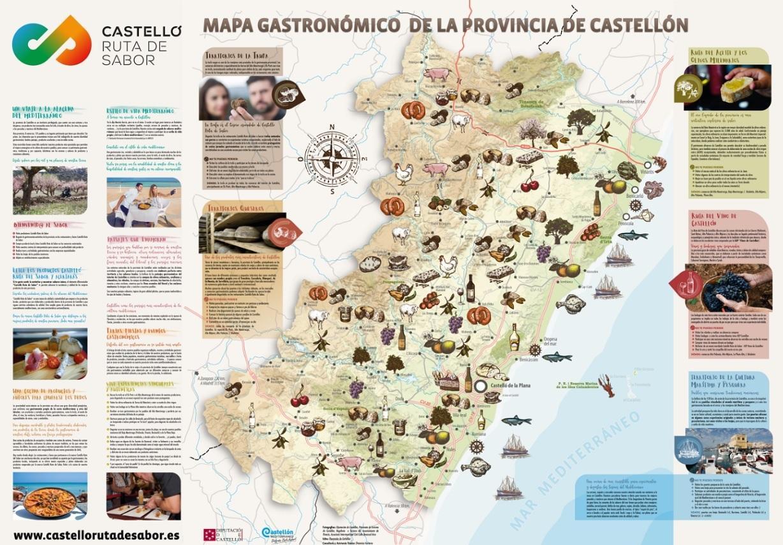 Mapa Provincia Castellon Municipios.Turismo De Castellon